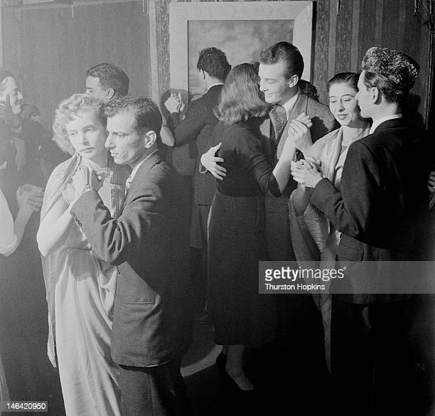 A mixed group of British and Indian people at a dance UK 24th October 1955 Original publication Picture Post 8572 Indians In London unpub