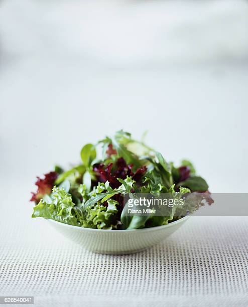 Mixed leaf salad in bowl