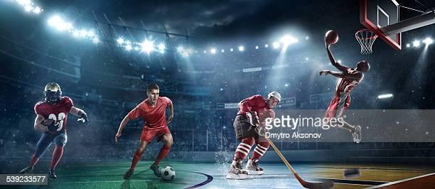 Gemischte wichtigsten sports