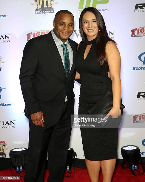 Mixed marital artist/former Olympic wrestler Daniel Cormier and Salina Deleon arrive at the seventh annual Fighters Only World Mixed Martial Arts...