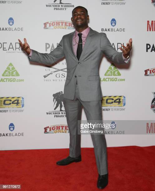 Mixed martial artist Aljamain Sterling attends the 10th annual Fighters Only World Mixed Martial Arts Awards at Palms Casino Resort on July 3 2018 in...