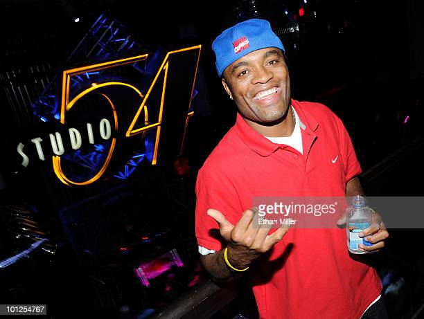 Mixed martial artist and UFC Middleweight Champion Anderson Silva appears at the official Silver Star Casting Co and UFC magazine preparty for UFC...