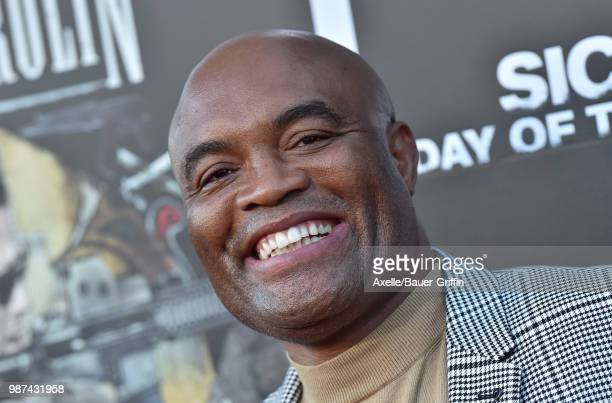 Mixed martial artist Anderson Silva attends Columbia Pictures' 'Sicario Day of the Soldado' Premiere at Regency Village Theatre on June 26 2018 in...