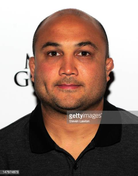 Mixed martial artist BJ Penn arrives to host a party at the Tabu Ultra Lounge at the MGM Grand Hotel/Casino on July 6 2012 in Las Vegas Nevada