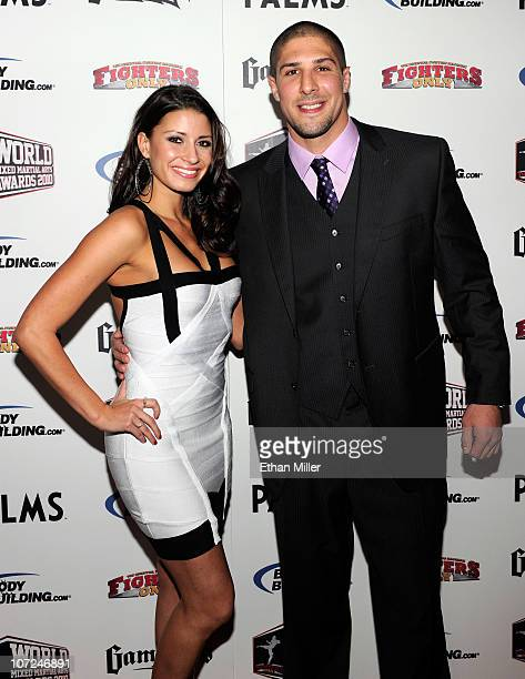 Mixed martial artist Brendan Schaub and Andrea Thompson arrive at the third annual Fighters Only World Mixed Martial Arts Awards 2010 at the Palms...