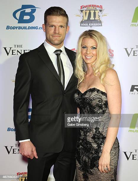 Mixed martial artist Bristol Marunde and his wife Aubrey Marunde arrive at the seventh annual Fighters Only World Mixed Martial Arts Awards at The...