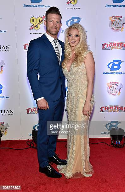 Mixed martial artist Bristol Marunde and his wife Aubrey Marunde arrive at the eighth annual Fighters Only World Mixed Martial Arts Awards at The...