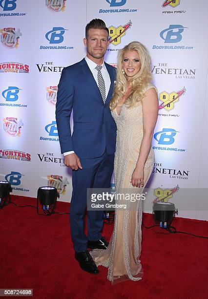 Mixed martial artist Bristol Marunde and his wife Aubrey Marunde attend the eighth annual Fighters Only World Mixed Martial Arts Awards at The...
