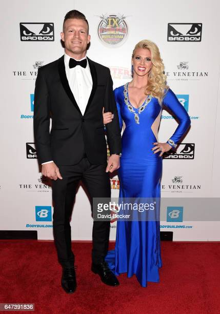 Mixed martial artist Bristol Marunde and television personality Aubrey Marunde attend the ninth annual Fighters Only World Mixed Martial Arts Awards...