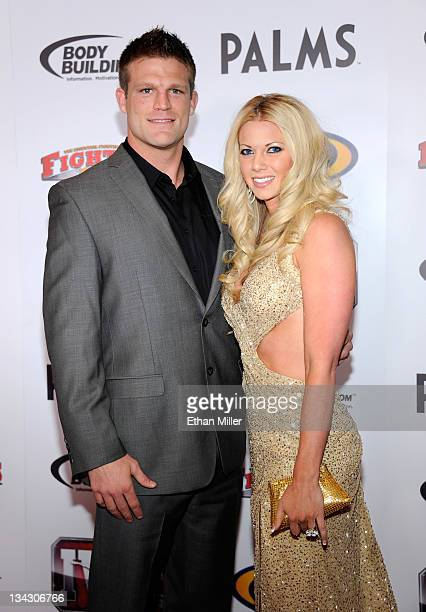 Mixed martial artist Bristol Marunde and wife Aubrey Marunde arrive at the Fighters Only World Mixed Martial Arts Awards 2011 at the Palms Casino...