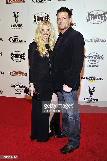 Mixed martial artist Bristol Marunde and wife Aubrey Marunde arrives at the Fighters Only World Mixed Martial Arts Awards at the Hard Rock Hotel...