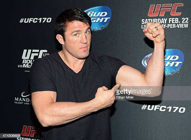 Mixed martial artist Chael Sonnen attends the UFC 170 event at the Mandalay Bay Events Center on February 22 2014 in Las Vegas Nevada