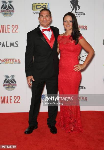 Mixed martial artist Darren Elkins and his wife Connie Elkins attend the 10th annual Fighters Only World Mixed Martial Arts Awards at Palms Casino...