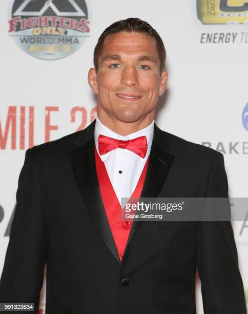 Mixed martial artist Darren Elkins attends the 10th annual Fighters Only World Mixed Martial Arts Awards at Palms Casino Resort on July 3 2018 in Las...