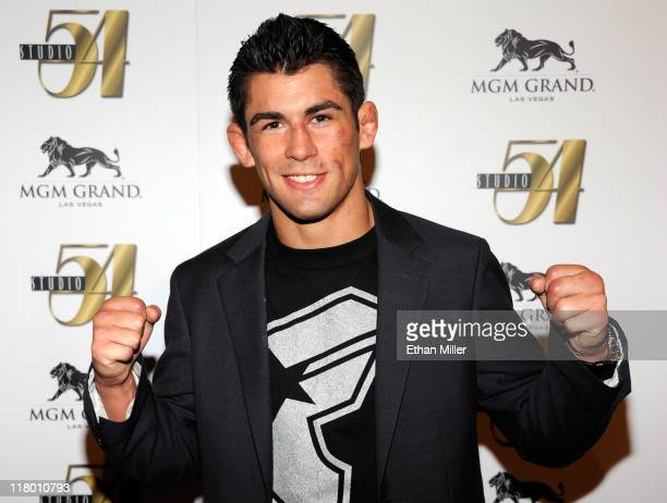 Mixed martial artist Dominick Cruz arrives at a postfight party for UFC 132 at Studio 54 inside the MGM Grand Hotel/Casino early July 3 2011 in Las...