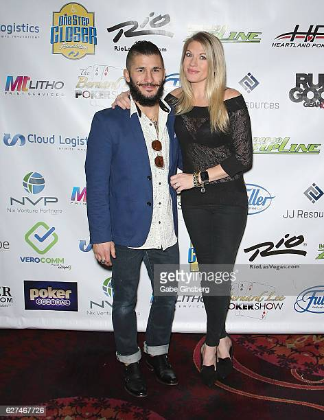 Mixed martial artist Ian McCall and professional wrestling personality Alicia Webb attend the All in for CP celebrity charity poker event at the Rio...