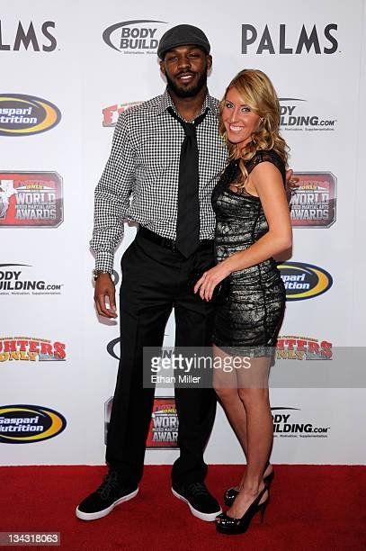 Mixed martial artist Jon Jones and girlfriend Jessie Moses arrive at the Fighters Only World Mixed Martial Arts Awards 2011 at the Palms Casino...