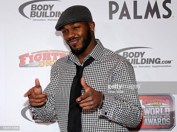 Mixed martial artist Jon Jones arrives at the Fighters Only World Mixed Martial Arts Awards 2011 at the Palms Casino Resort November 30, 2011 in Las...