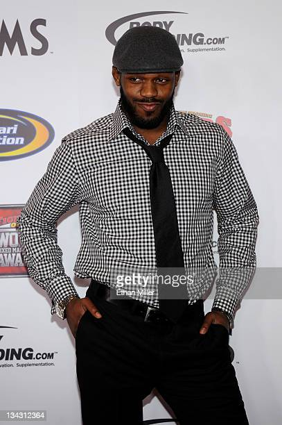 Mixed martial artist Jon Jones arrives at the Fighters Only World Mixed Martial Arts Awards 2011 at the Palms Casino Resort November 30 2011 in Las...