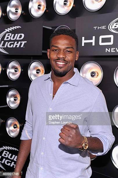 Mixed martial artist Jon Jones attends the Bud Light Madden Bowl at The Bud Light Hotel on January 30, 2014 in New York City.
