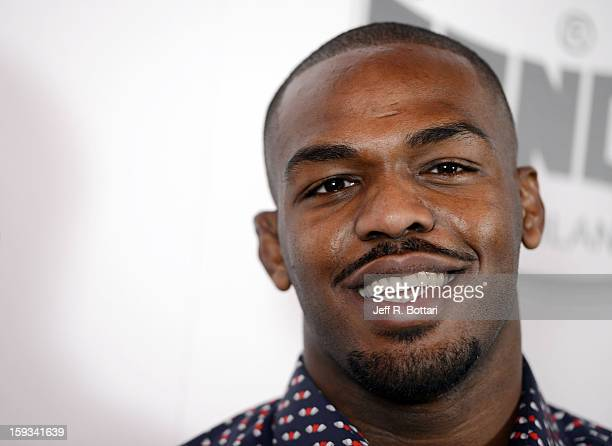 Mixed martial artist Jon Jones speaks with the media after winning the Fighter of the Year award at the Fighters Only World Mixed Martial Arts Awards...