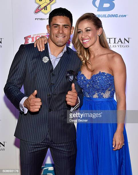 Mixed martial artist Jonathan Nunez and Emilie Tompkins arrive at the eighth annual Fighters Only World Mixed Martial Arts Awards at The Palazzo Las...