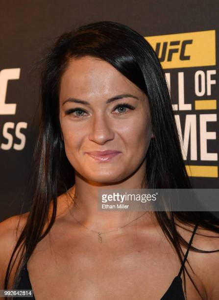 Mixed martial artist Karolina Kowalkiewicz arrives at the UFC Hall of Fame's class of 2018 induction ceremony at Palms Casino Resort on July 5 2018...