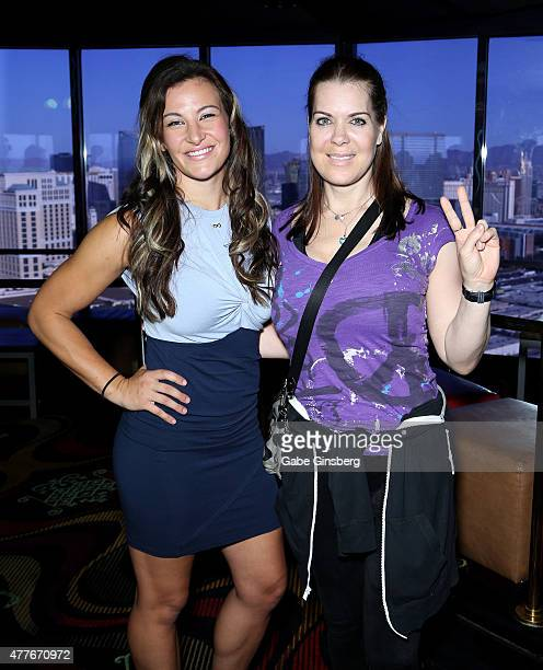 Mixed martial artist Miesha Tate and former professional wrestler Joanie Chyna Laurer attend One Step Closer Foundation's event at the VooDoo Zip...