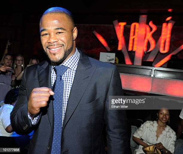 ACCESS*** Mixed martial artist Rashad Evans appears at the UFC 114 after party at the Tabu Ultra Lounge following his victory over Quinton Rampage...
