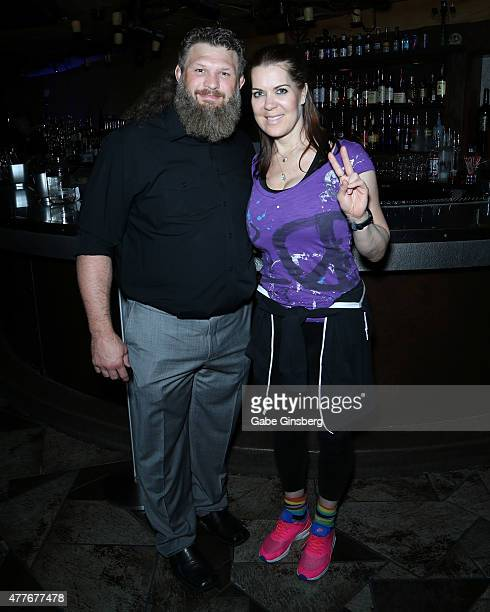 Mixed martial artist Roy Big Country Nelson and former professional wrestler Joanie Chyna Laurer attend One Step Closer Foundation's event at the...
