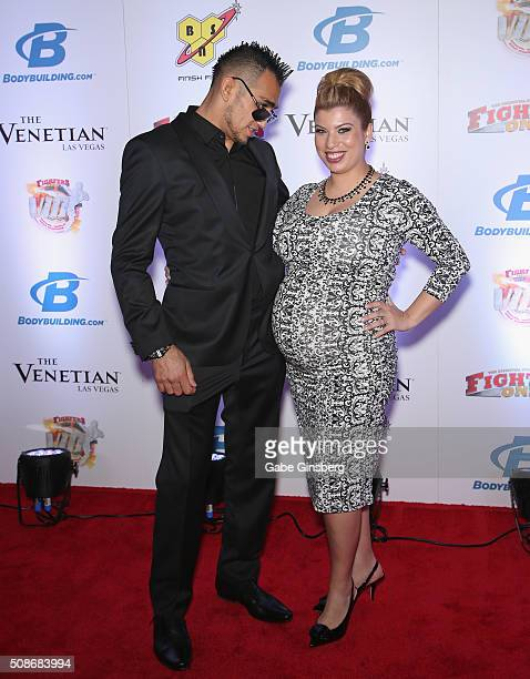 Mixed martial artist Tony Ferguson and his wife Cristina Ferguson attend the eighth annual Fighters Only World Mixed Martial Arts Awards at The...
