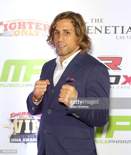 Mixed martial artist Urijah Faber at the seventh annual Fighters Only World Mixed Martial Arts Awards at The Palazzo Las Vegas on January 30 2015 in...