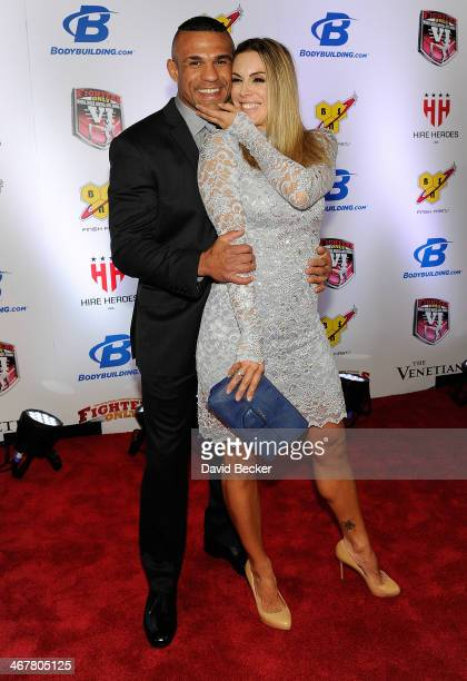Mixed martial artist Vitor Belfort and his wife Joana Belfort arrive at the sixth annual Fighters Only World Mixed Martial Arts Awards at The Palazzo...