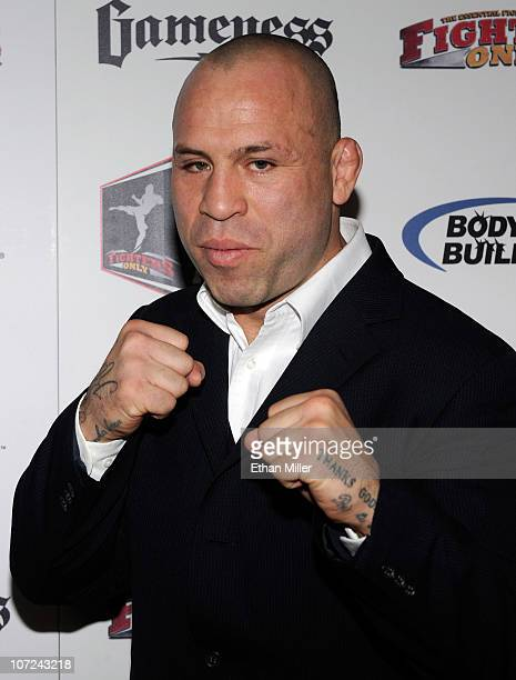 Mixed martial artist Wanderlei Silva arrives at the third annual Fighters Only World Mixed Martial Arts Awards 2010 at the Palms Casino Resort...