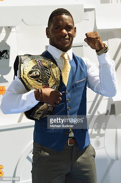 Mixed martial artist Will Brooks attends The 2015 MTV Movie Awards at Nokia Theatre L.A. Live on April 12, 2015 in Los Angeles, California.
