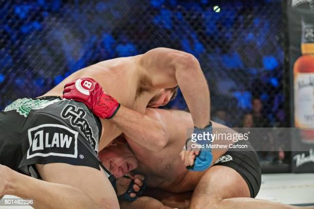 Bellator NYC: Fedor Emelianenko in action vs Matt Mitrione during Heavyweight main event bout at Madison Square Garden. New York, NY 6/24/2017...