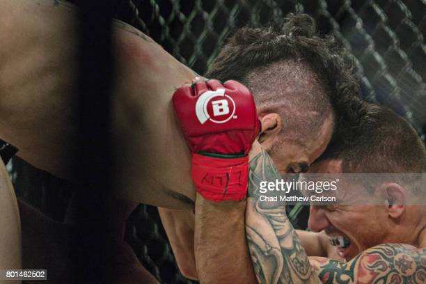 Bellator NYC Matt Rizzo in action vs Sergio da Silva during catchweight bout at Madison Square Garden New York NY CREDIT Chad Matthew Carlson