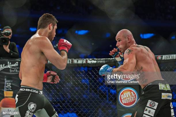 Bellator NYC Neiman Gracie in action vs Dave Marfone during Welterweight bout at Madison Square Garden New York NY CREDIT Chad Matthew Carlson