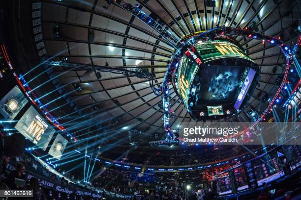 Bellator NYC Overall view of arena before Heather Hardy vs Alice Yauger Women's Flyweight preliminary bout at Madison Square Garden New York NY...