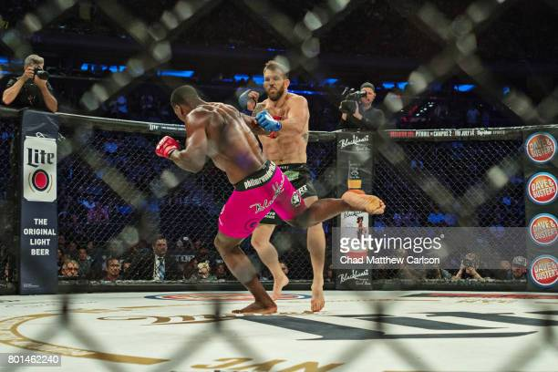 Bellator NYC Phil Davis in action vs Ryan Bader during Light Heavyweight World Title bout at Madison Square Garden New York NY CREDIT Chad Matthew...
