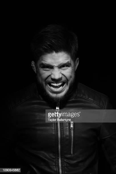 Closeup portrait of UFC Men's Flyweight champion Henry Cejudo posing during photo shoot at Meredith Studios. New York, NY 1/15/2019 CREDIT: Taylor...