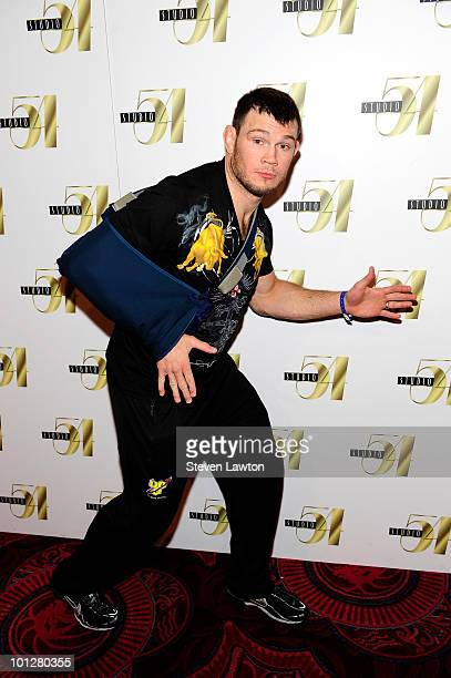 Mixed Martial Arts fighter Forrest Griffin arrives for postfight party at Studio 54 inside MGM Grand on May 29, 2010 in Las Vegas, Nevada.
