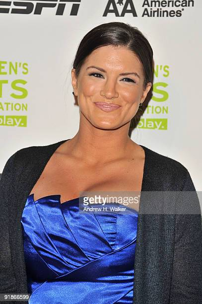 Mixed martial arts fighter Gina Carano attends the 30th Annual Salute To Women In Sports Awards at The Waldorf=Astoria on October 13 2009 in New York...