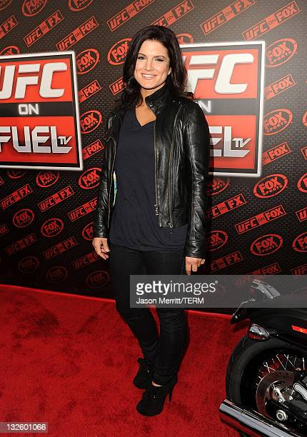 Mixed martial arts fighter Gina Carano attends UFC on Fox: Live Heavyweight Championship at the Honda Center on November 12, 2011 in Anaheim,...