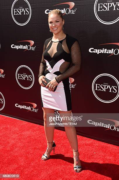 Mixed Martial Arts fighter Ronda Rousey attends The 2015 ESPYS at Microsoft Theater on July 15, 2015 in Los Angeles, California.