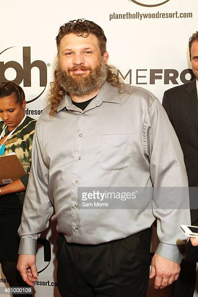 Mixed martial arts heavyweight fighter Roy Nelson arrives at the Las Vegas premiere of Open Road Films''Homefront' at Planet Hollywood Resort Casino...