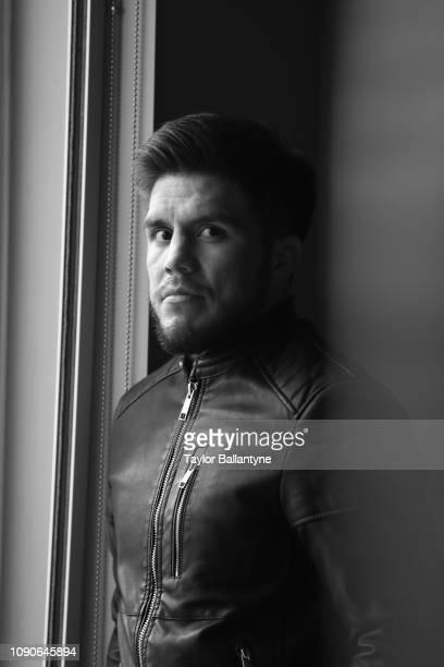 Portrait of UFC Men's Flyweight champion Henry Cejudo posing during photo shoot at Meredith Studios. New York, NY 1/15/2019 CREDIT: Taylor Ballantyne