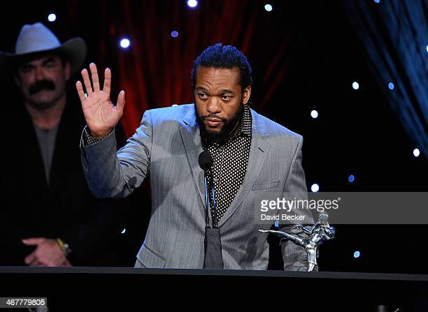 Mixed martial arts referee Herb Dean accepts his Referee of the Year award during the sixth annual Fighters Only World Mixed Martial Arts Awards at...