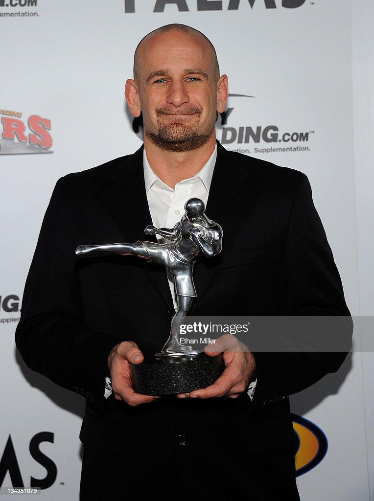 Mixed martial arts trainer Greg Jackson holds the Coach of the Year award at the Fighters Only World Mixed Martial Arts Awards 2011 at The Pearl concert theater at the Palms Casino Resort November 30, 2011 in Las Vegas, Nevada.