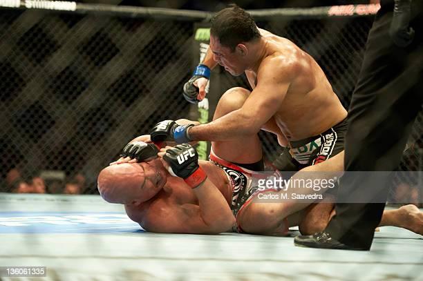 Antonio Rodrigo Nogueira in action vs Tito Ortiz at the Air Canada Centre. Toronto, Canada CREDIT: Carlos M. Saavedra